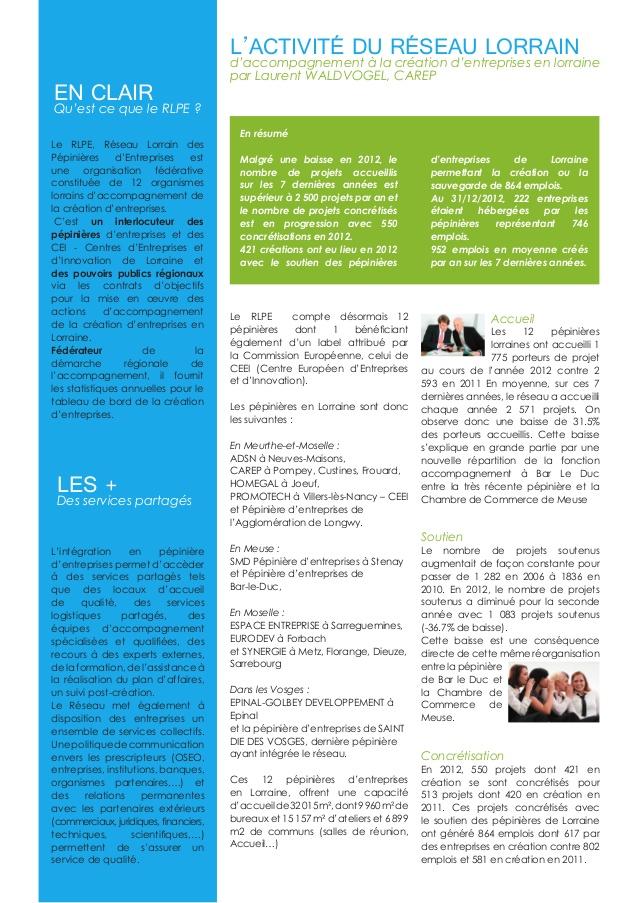Newsletter RLPE 2ème slide